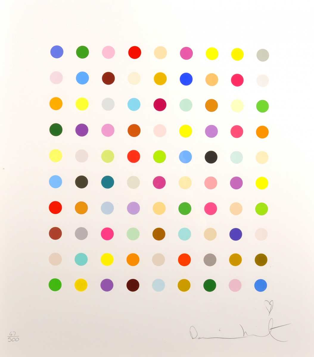 Ninety Colour Spots By Damien Hirst From Lougher Contemporary Global Art Traders
